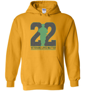 Twenty-Two Lives Matter Hoodie in Gold