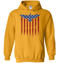 Load image into Gallery viewer, Star Spangled Eagle Flag Hoodie in Gold