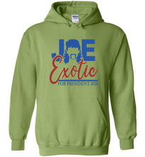 Load image into Gallery viewer, Joe Exotic for President Hoodie in Kiwi