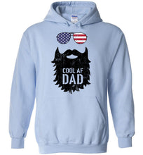 Load image into Gallery viewer, Cool AF Dad Beard Hoodie in Light Blue