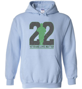 Twenty-Two Lives Matter Hoodie in Light Blue