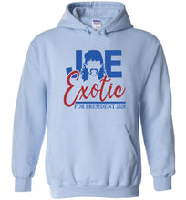 Load image into Gallery viewer, Joe Exotic for President Hoodie in Light Blue