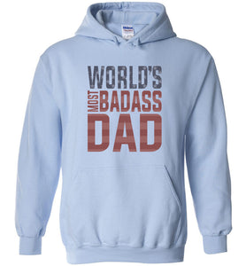 World's Most Badass Dad Hoodie in Light Blue