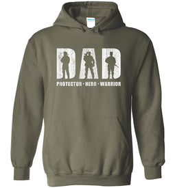 Hero Protector Warrior Hoodie in Military Green