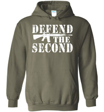 Load image into Gallery viewer, Defend the Second Hoodie in Military Green