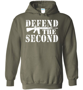 Defend the Second Hoodie in Military Green
