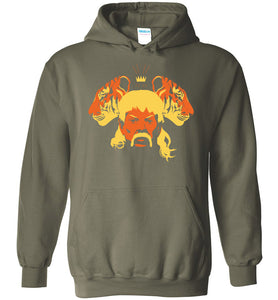 The Tiger King Hoodie in Military Green