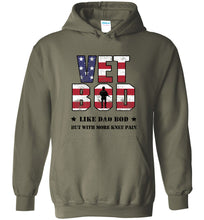 Load image into Gallery viewer, Knee Pain Vet Bod Hoodie in Military Green