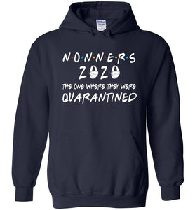 Quarantined Nonners Hoodie in Navy