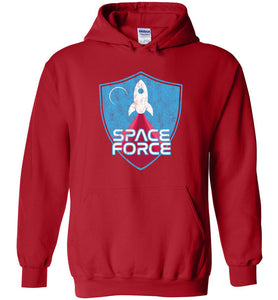 Space Force Blast Off Hoodie in Red