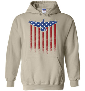 Star Spangled Eagle Flag Hoodie in Sand