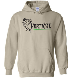 Vertical Jigs and Lures Logo Hoodie in Sand