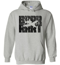 A-10 Warthog BRRRRT Hoodie in Sports Grey