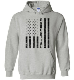Essential Employee Flag Hoodie in Sports Grey
