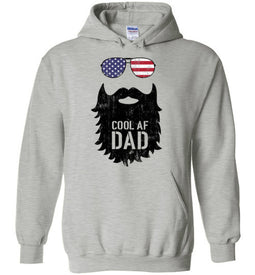 Cool AF Dad Beard Hoodie in Sports Grey