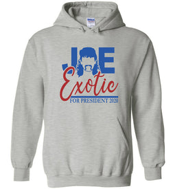 Joe Exotic for President Hoodie in Sports Grey