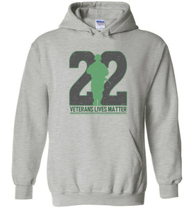 Twenty-Two Lives Matter Hoodie in Sports Grey