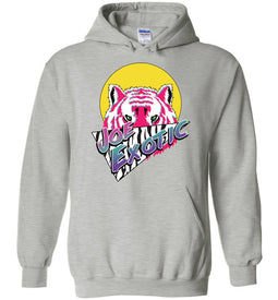 Joe Exotic Retro Hoodie in Sports Grey