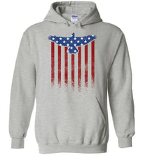 Load image into Gallery viewer, Star Spangled Eagle Flag Hoodie in Sports Grey