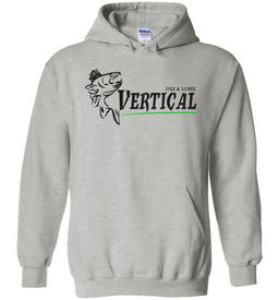 Vertical Jigs and Lures Logo Hoodie in Sports Grey