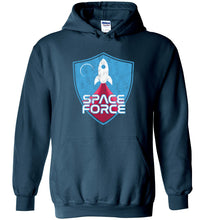 Load image into Gallery viewer, Space Force Blast Off Hoodie in Legion Blue