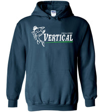 Load image into Gallery viewer, Vertical Jigs and Lures Logo Hoodie in Legion Blue