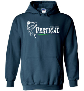 Vertical Jigs and Lures Logo Hoodie in Legion Blue
