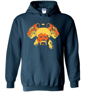 The Tiger King Hoodie in Legion Blue