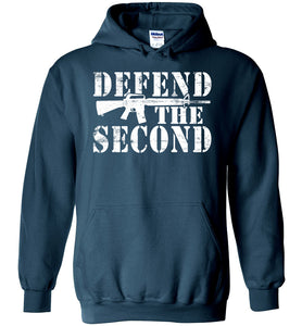 Defend the Second Hoodie in Legion Blue