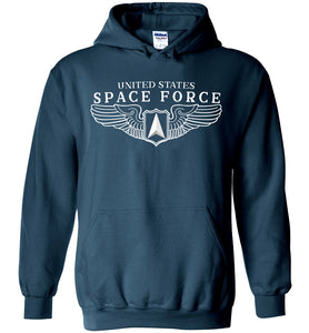 Space Force Wings Hoodie in Legion Blue