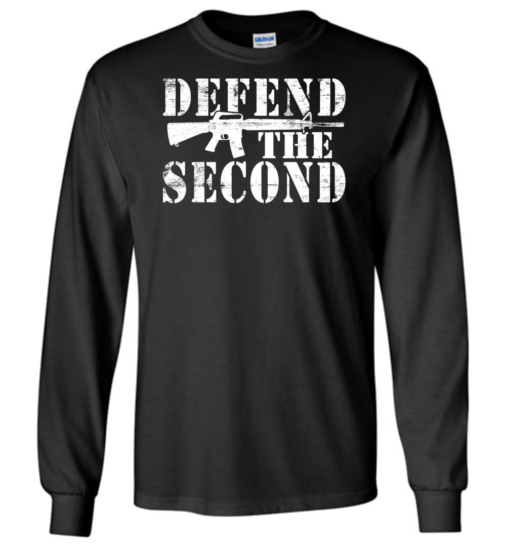 Defend the Second Long Sleeve T-Shirt in Black