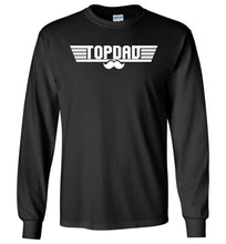 Load image into Gallery viewer, Top Dad Long Sleeve T-Shirt in Black