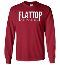 Load image into Gallery viewer, Modern FTA Logo Long Sleeve T-Shirt in Cardinal Red
