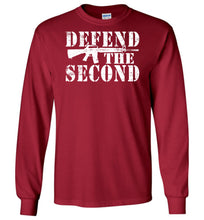 Load image into Gallery viewer, Defend the Second Long Sleeve T-Shirt in Cardinal Red