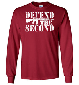 Defend the Second Long Sleeve T-Shirt in Cardinal Red