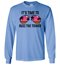 Load image into Gallery viewer, Buzz the Tower Long Sleeve T-Shirt in Carolina Blue