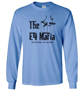 E-4 Mafia Long Sleeve T-Shirt in Carolina Blue