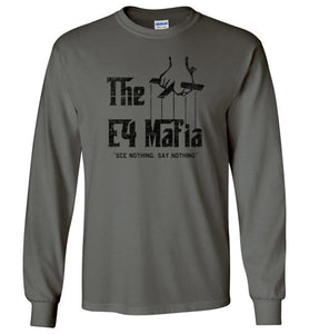 E-4 Mafia Long Sleeve T-Shirt in Charcoal