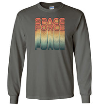 Load image into Gallery viewer, Rainbow Space Force Long Sleeve T-Shirt in Military Green