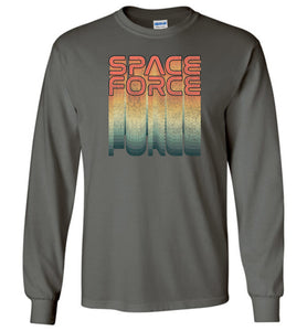 Rainbow Space Force Long Sleeve T-Shirt in Military Green