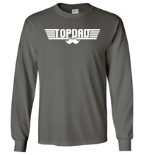 Load image into Gallery viewer, Top Dad Long Sleeve T-Shirt in Charcoal