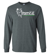 Load image into Gallery viewer, Vertical Jigs and Lures Logo Long Sleeve T-Shirt in Dark Heather