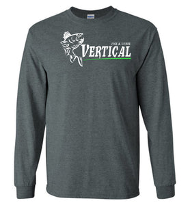 Vertical Jigs and Lures Logo Long Sleeve T-Shirt in Dark Heather