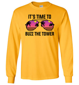 Buzz the Tower Long Sleeve T-Shirt in Gold