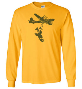 Dropping F Bombs Long Sleeve T-Shirt in Gold
