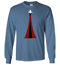 Load image into Gallery viewer, Space Force Physical Training Long Sleeve T-Shirt in Indigo Blue