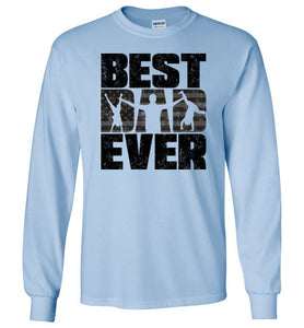 Best Dad Ever Long Sleeve T-Shirt in Light Blue