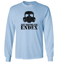 Load image into Gallery viewer, Just Waiting For ENDEX Long Sleeve T-Shirt in Light Blue