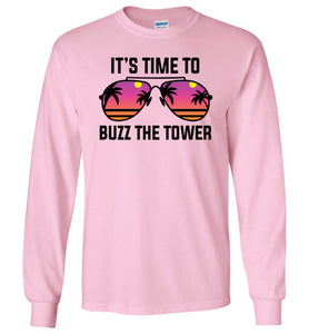 Buzz the Tower Long Sleeve T-Shirt in Light Pink