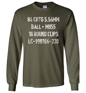 Ammo Crate Long Sleeve T-Shirt in Military Green